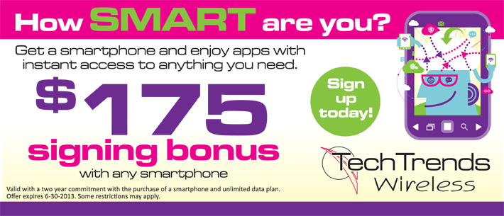 TechTrends Wireless $175 Signing Bonus