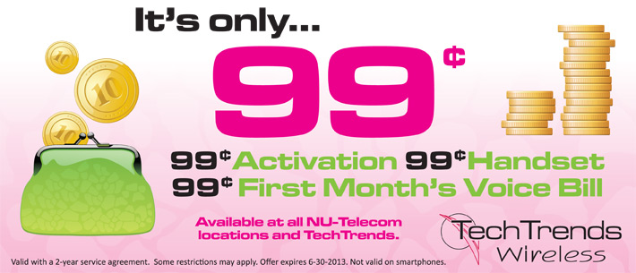 TechTrends Wireless 99 Cents Promo