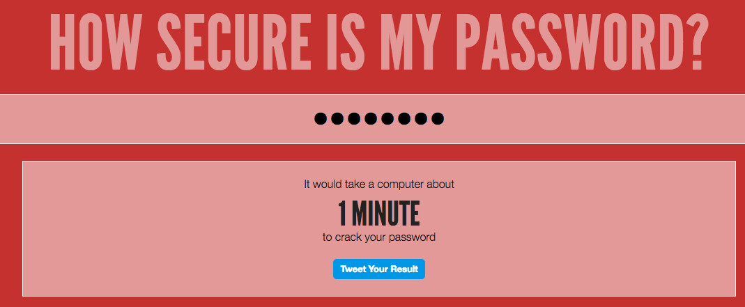 unsecure password